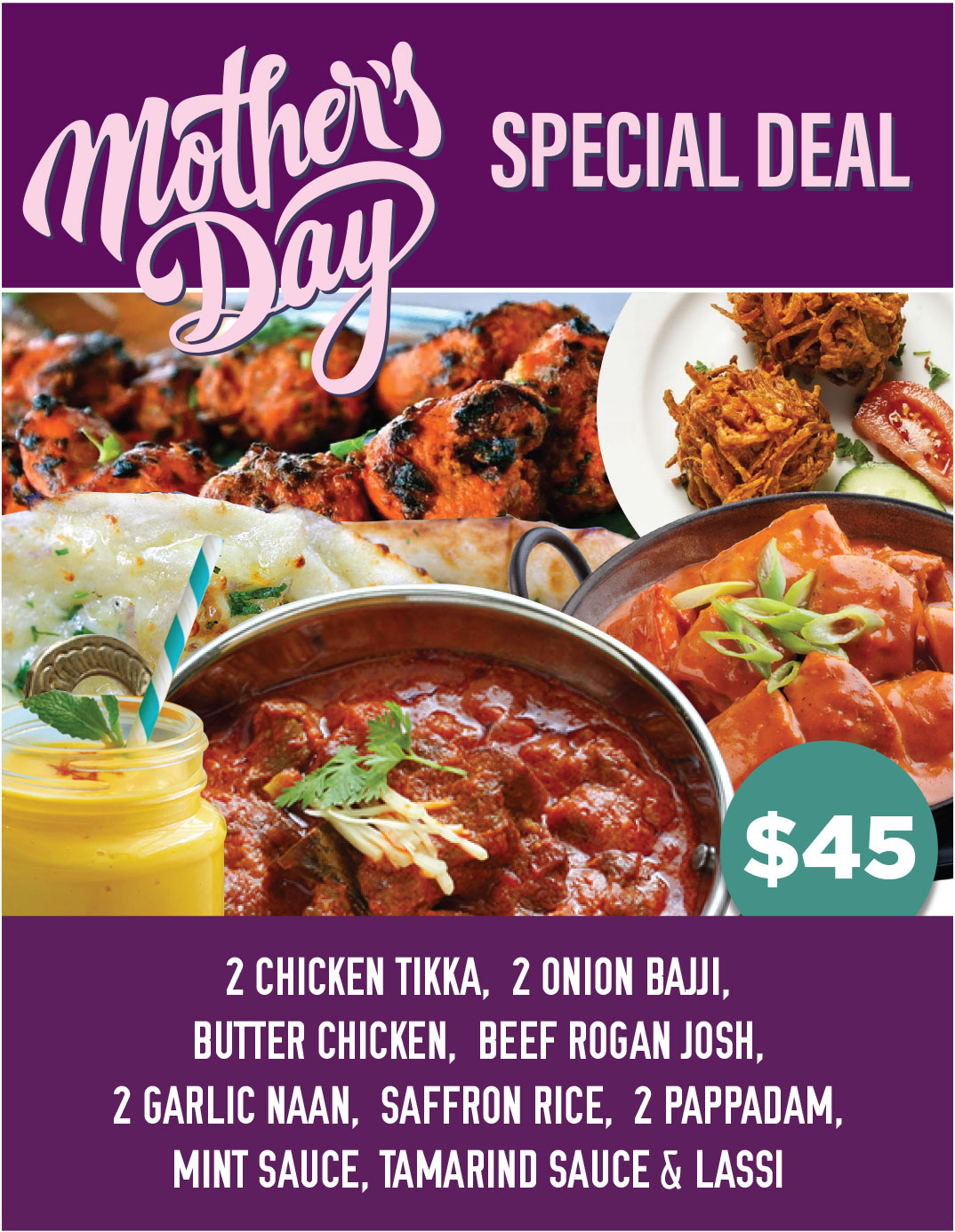 Mothers Day Special Deal - 24 Spices Indian Restaurant