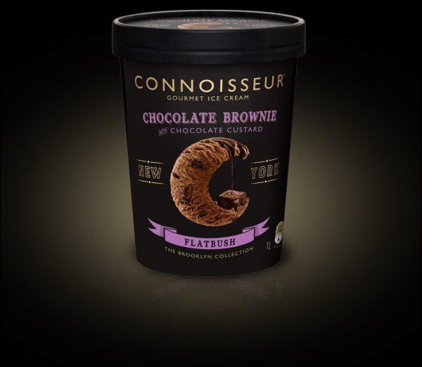 Chocolate brownie with chocolate custard
